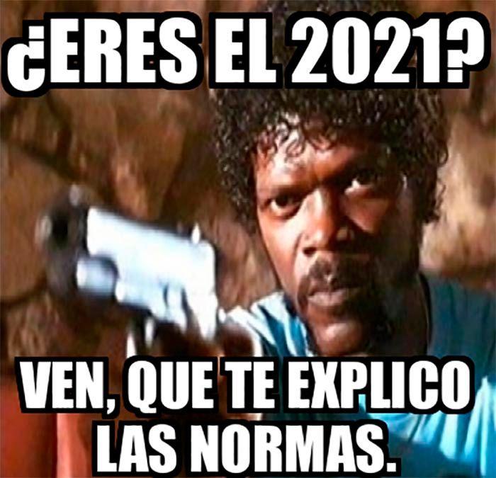 Meme pulp fiction año nuevo 2021