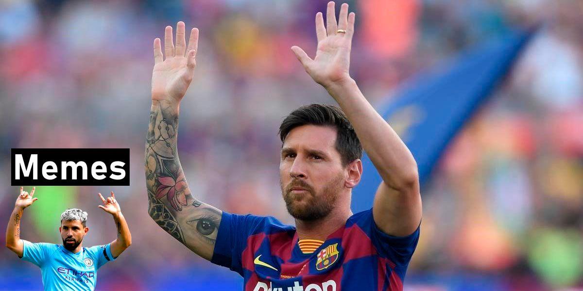 Memes de la salida de Messi del Barcelona