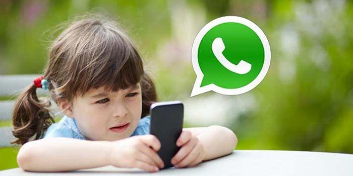 Menores usar WhatsApp