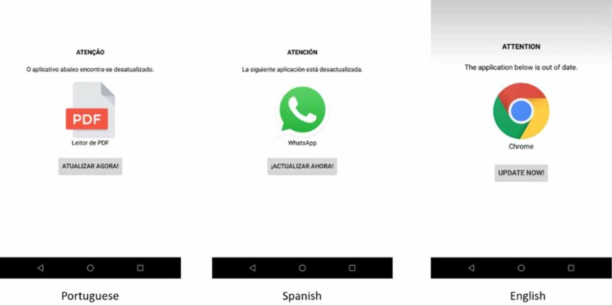 Mensaje de BRATA según el idioma de tu móvil