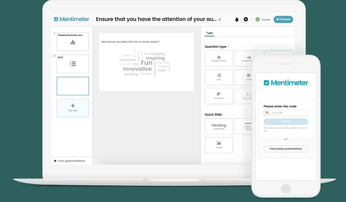 Mentimeter app alternativa Kahoot