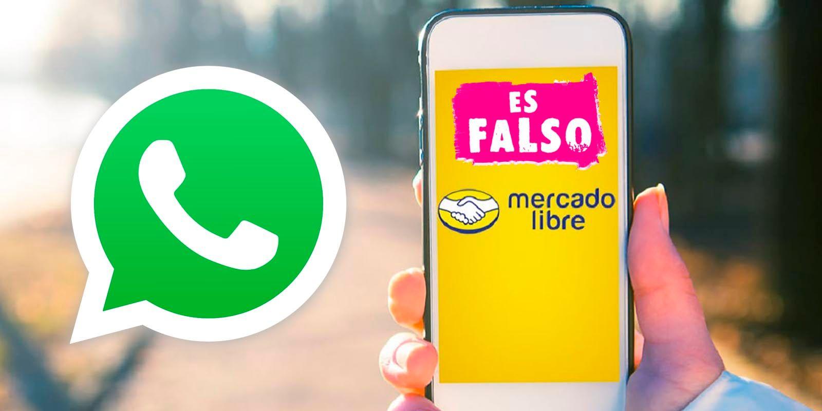 Mercado Libre regalos 20 aniversario estafa WhatsApp