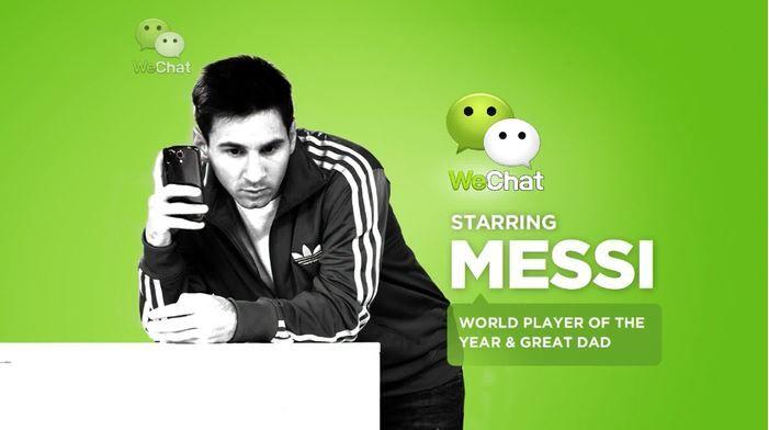 Messi patrocinando WeChat