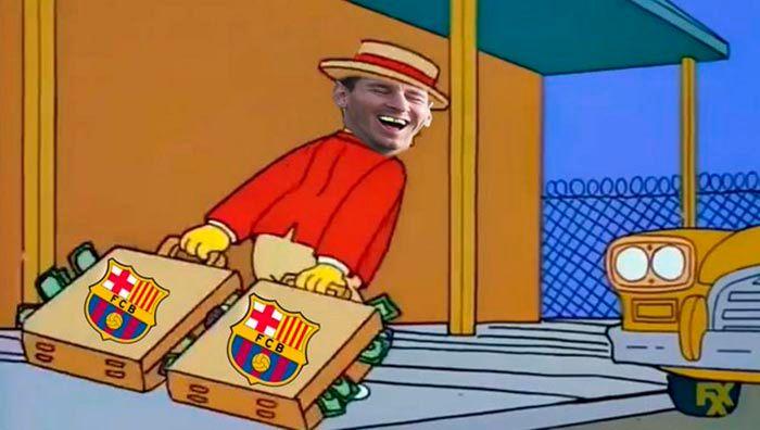Messi salida del Barcelona meme