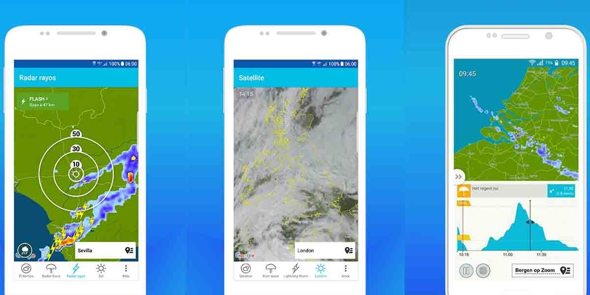 Meteoplaza alarma de lluvia Android