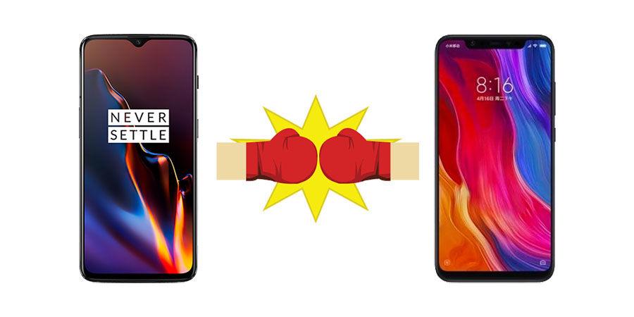 Mi 8 vs OnePlus 6T