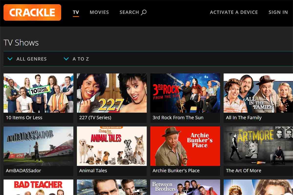 Mira películas y series gratis en España con Crackle
