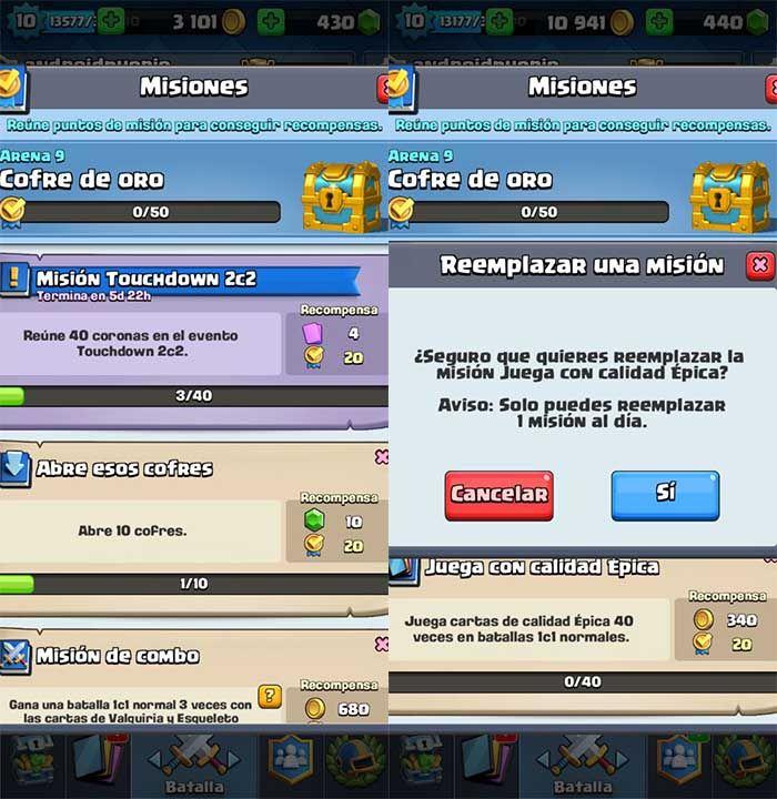 Misiones Clash Royale