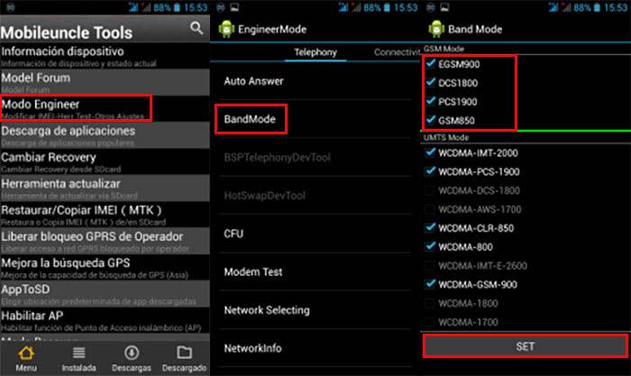 Mobileuncle Tools Configuración