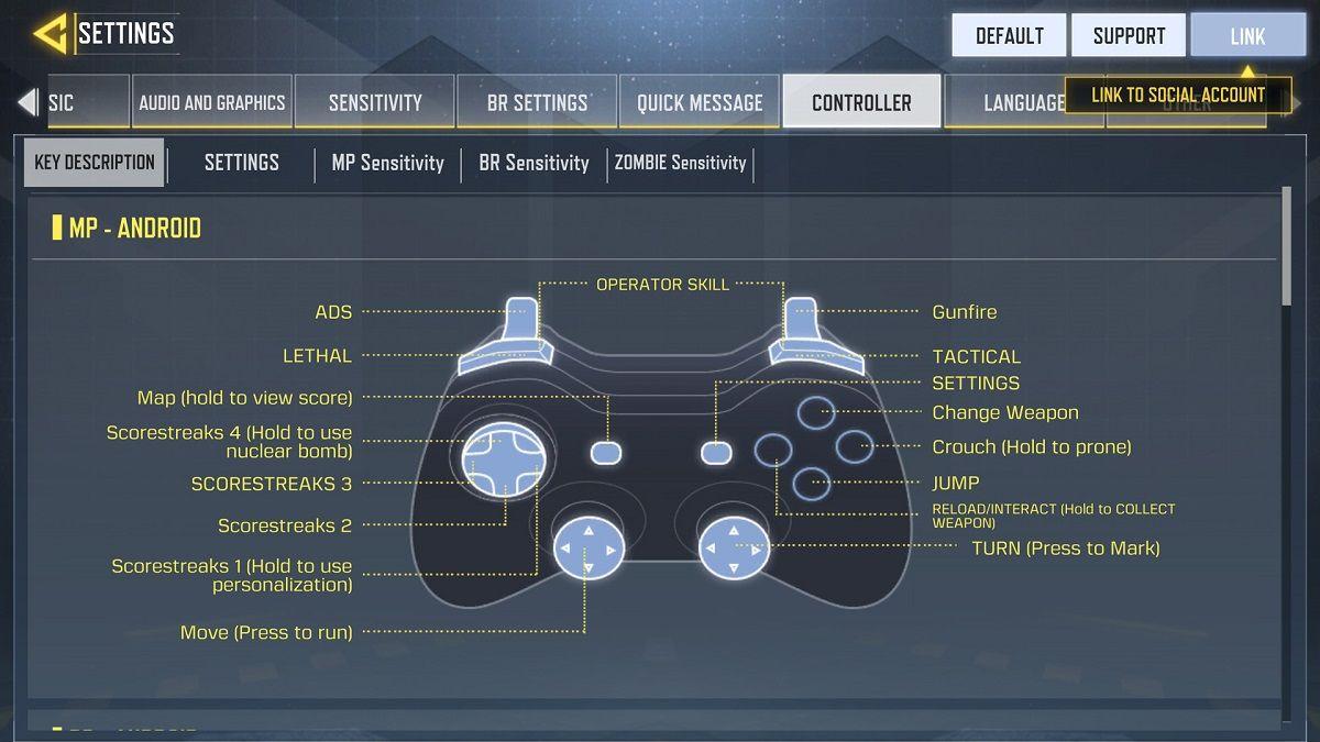 Modifica el mando de PS4 o Xbox One en COD Mobile