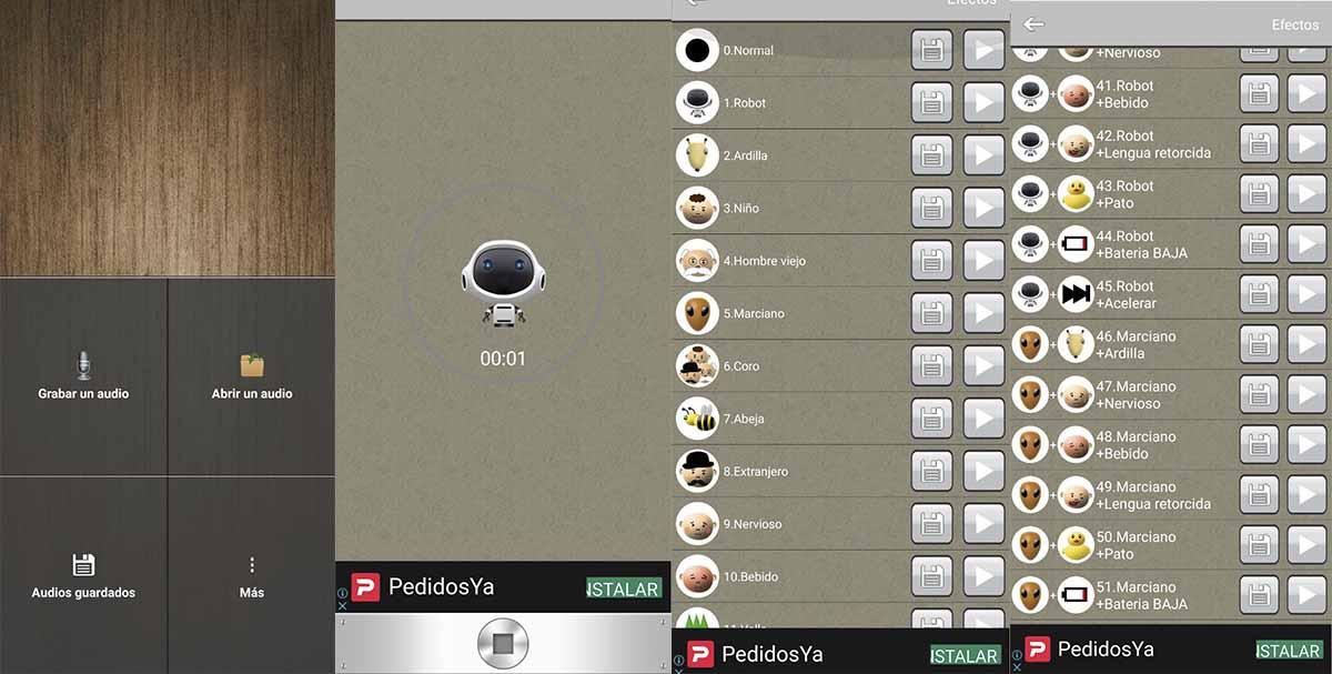 Modificador de voz una app para grabar audios con efectos que no ocupará mucho espacio en tu móvil