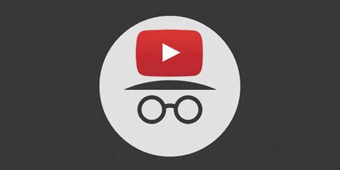 Modo incógnito YouTube