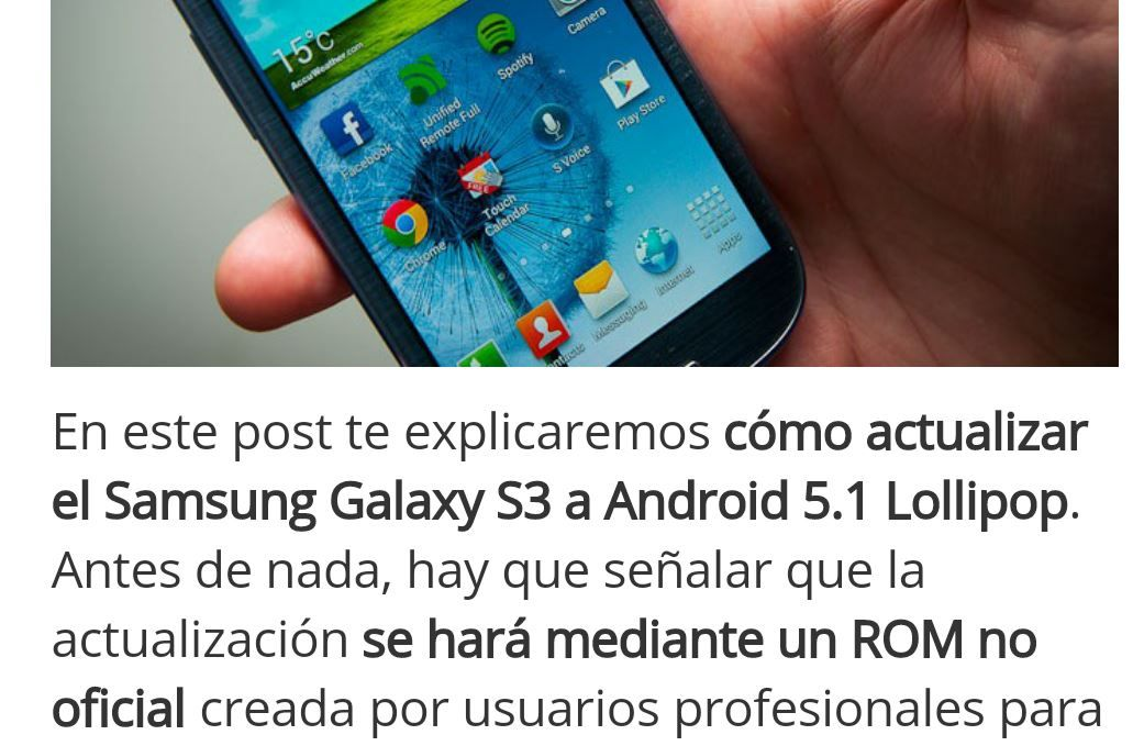 Modo lectura en Chrome para Android