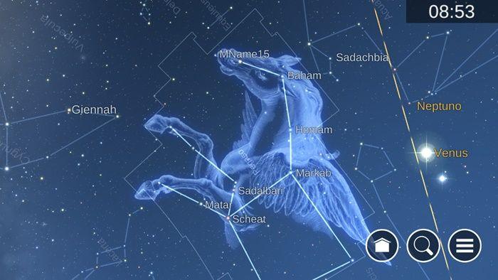 Modo vista del cielo Mapa estelar