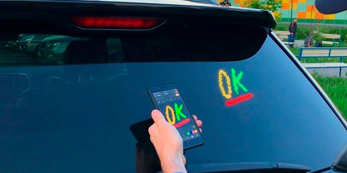 Mojipic pantalla LED para coches