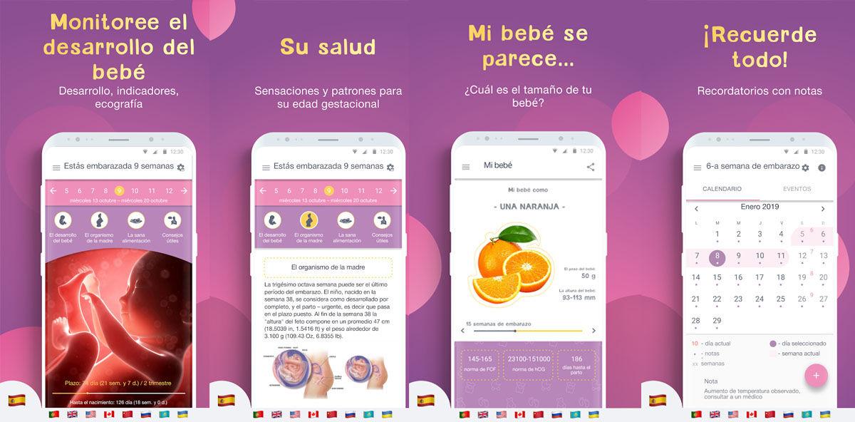 Monitorea el crecimiento de tu bebé con estas 10 apps para hacer un sguimiento de tu embarazo