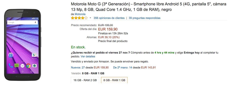 Moto G 3 oferta