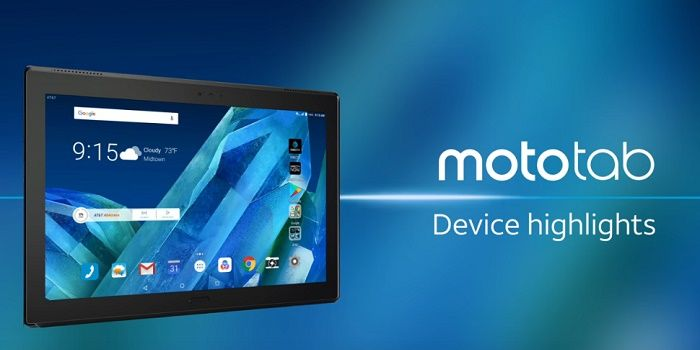 Moto Tab tablet