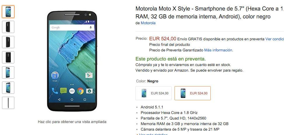 Moto X Style en preventa en Amazon