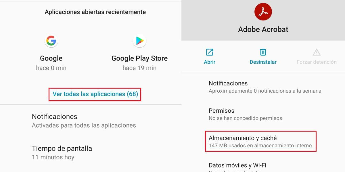 Mover una aplicación a la microSD en Android 10