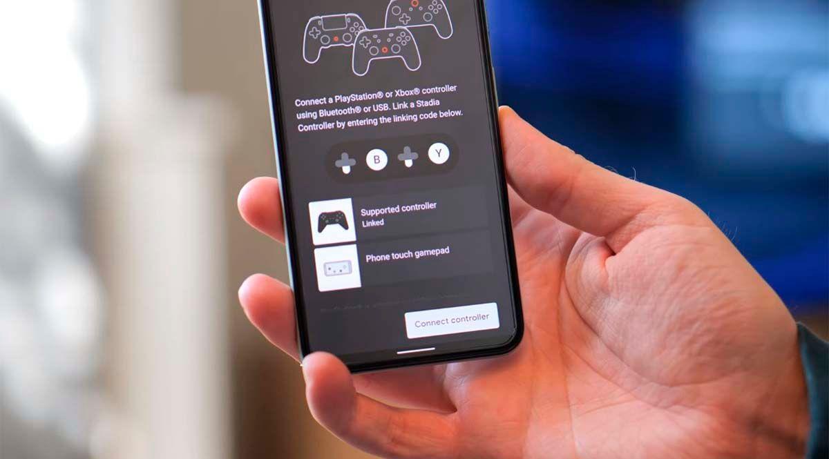 Móvil conecte mandos PS4 Xbox One Stadia Chromecast Ultra vía Bluetooth