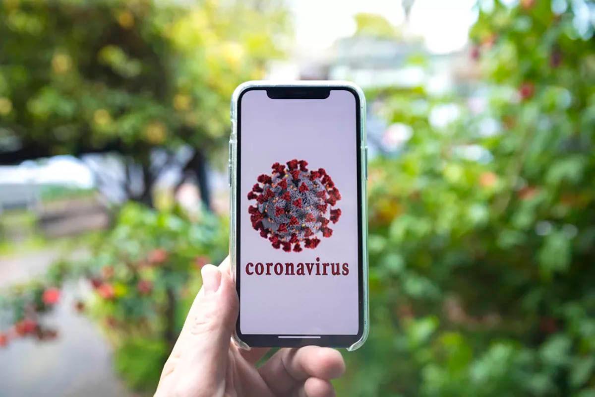 Movil factor de contagio coronavirus