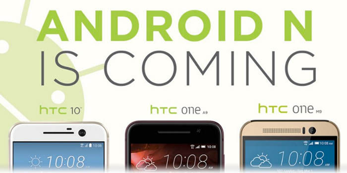 Moviles HTC con Android N