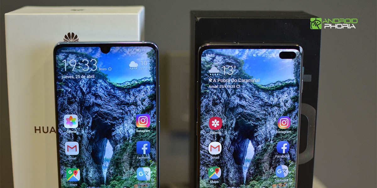 Muescas Galaxy S10 Plus vs P30 Pro