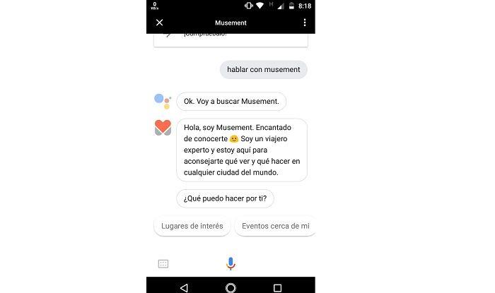 Musement en Google Assistant