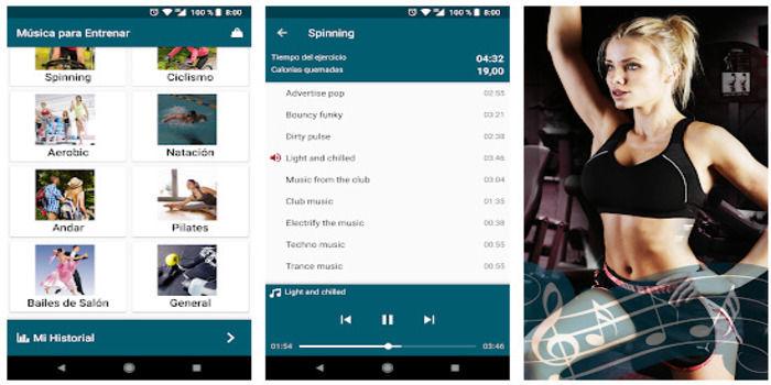 Musica hacer deporte en casa app
