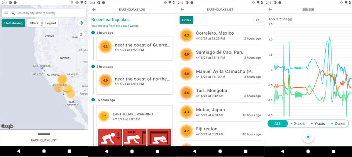 MyShake es una de las aplicaciones de Android para detectar temblores y terremotos más eficientes de la Google Play Store