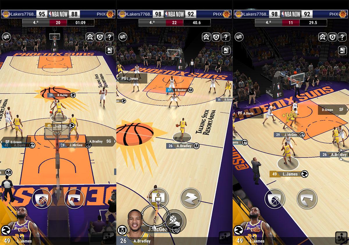 NBA Now jugabilidad y graficos