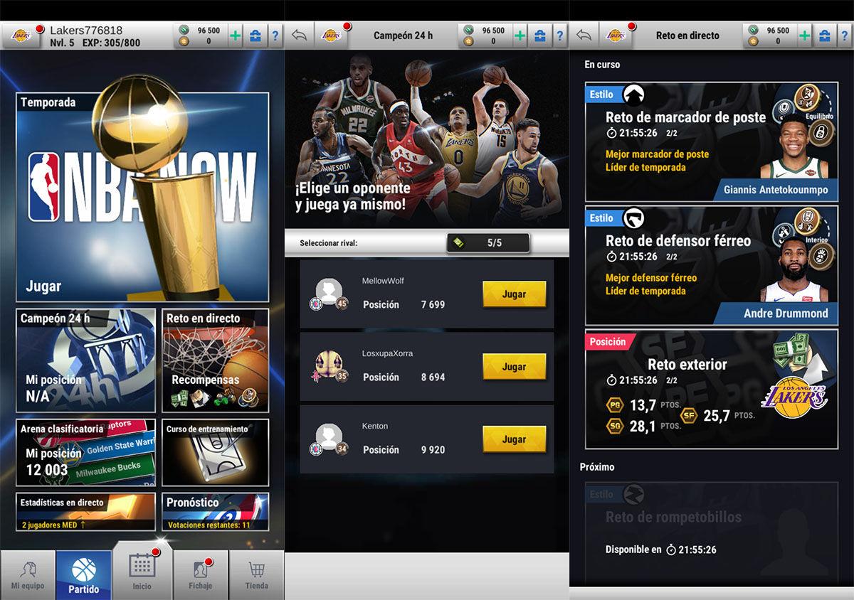 NBA Now modos de juego