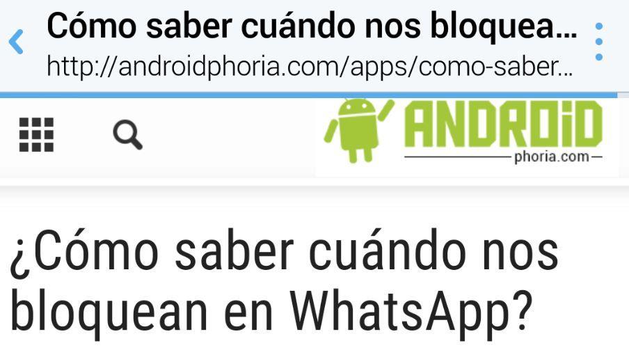 Navegador interno de Twitter en Android