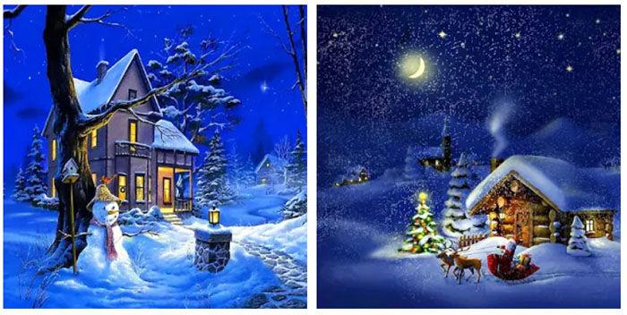 Navidad Noche Fondos Animados