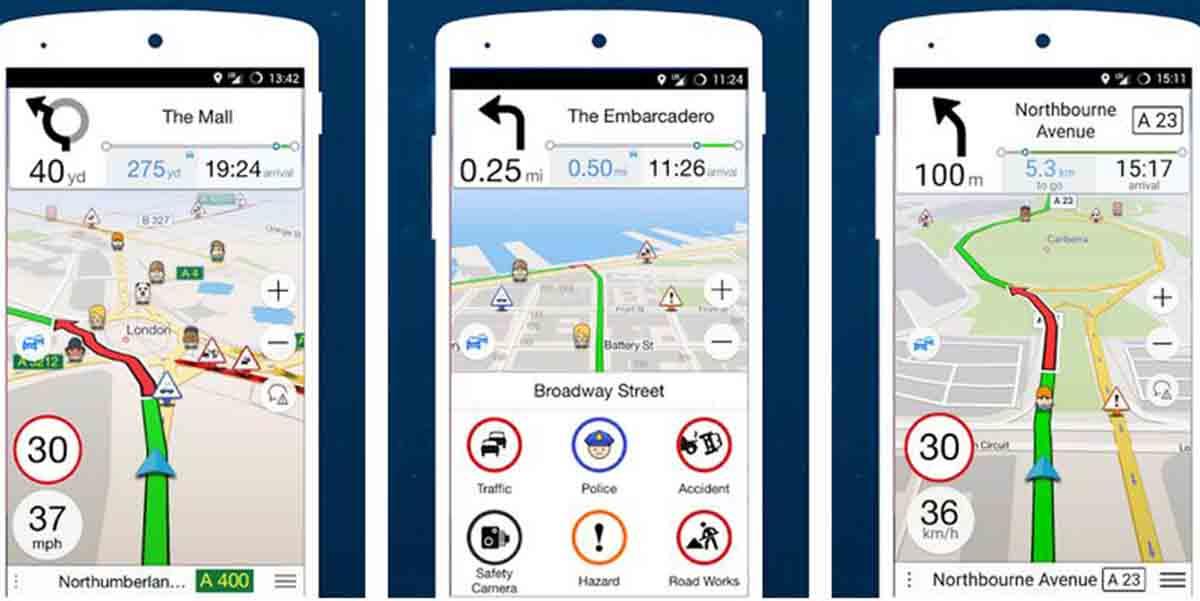 Navmii app alternativa a Google Maps