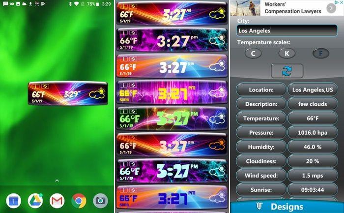Neon Clock Weather Widget
