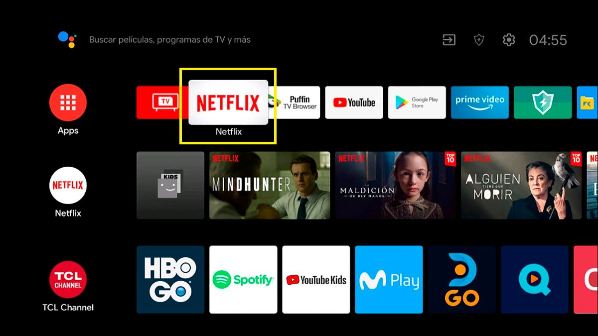 Netflix Android TV TCL
