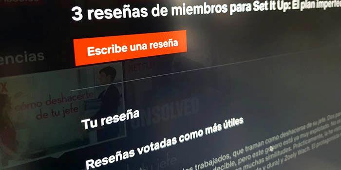 Netflix elimina valoraciones