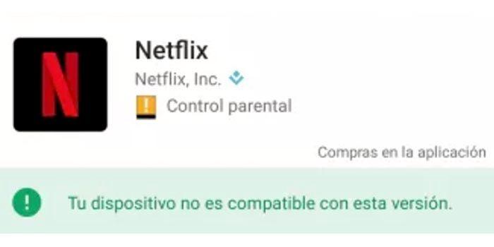 Netflix no es compatible