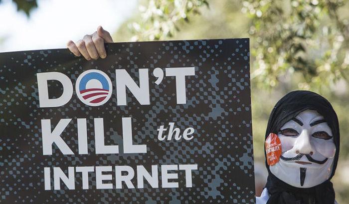Neutralidad Internet eliminacion manifestacion