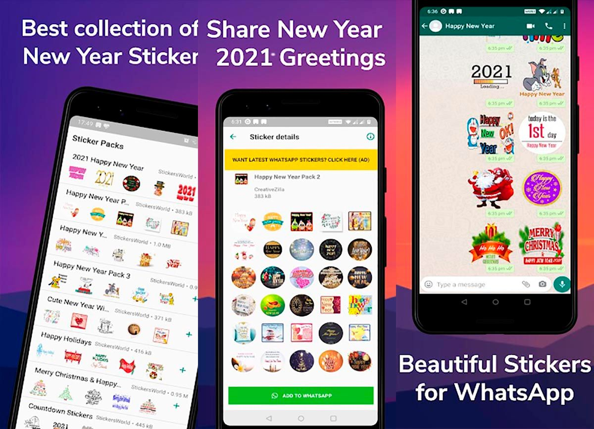 New Year Stickers 2021 for WhatsApp