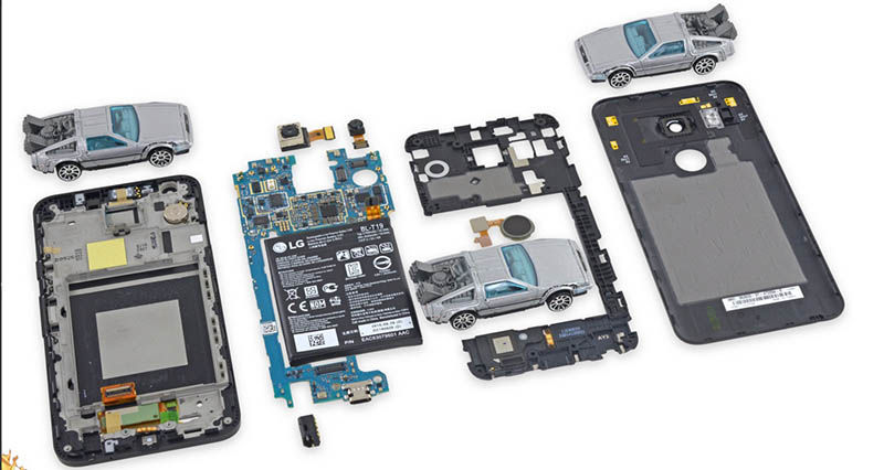 Nexus 5X desmontado