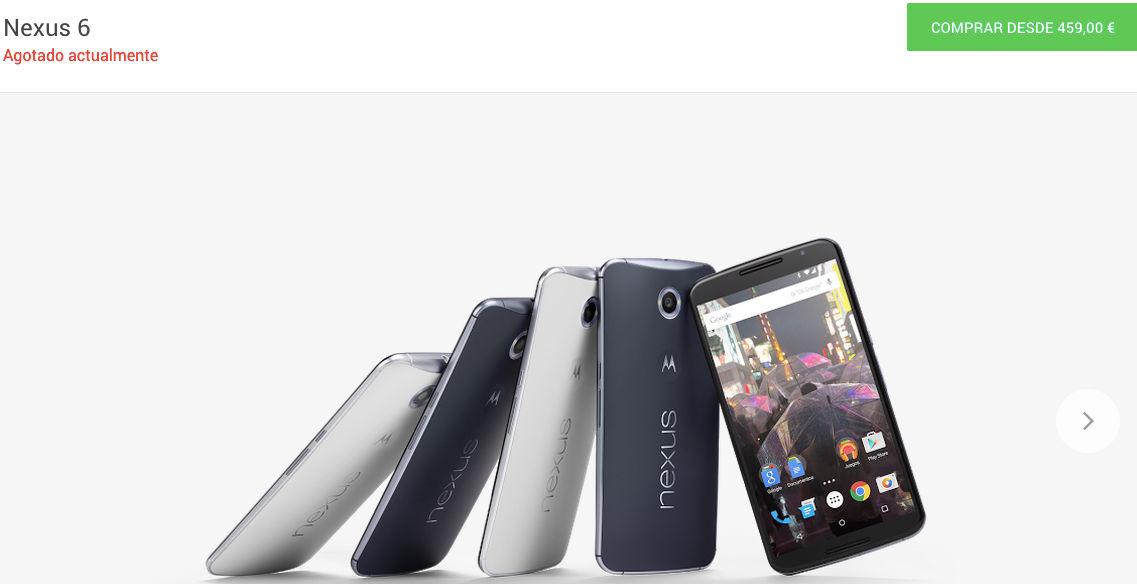 Nexus 6 se agota en la Google Store
