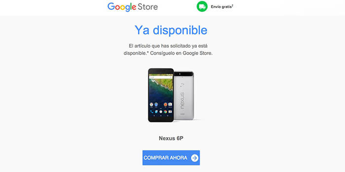 Nexus 6P disponible Google Store España