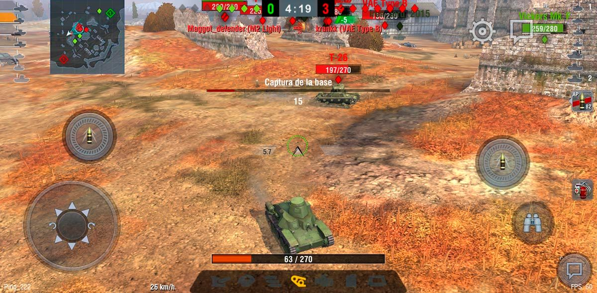 No te dejes de mover World of Tanks Blitz