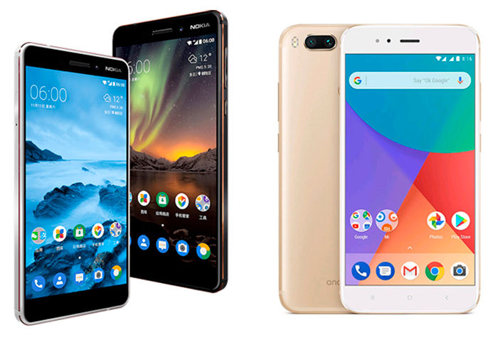 Nokia 6 2018 vs Xiaomi Mi A1 comparativa