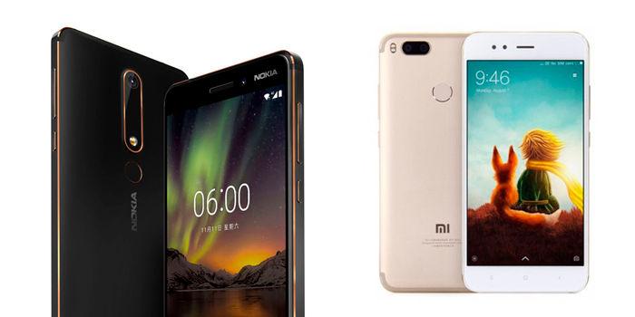 Nokia 6 2018 vs Xiaomi Mi A1