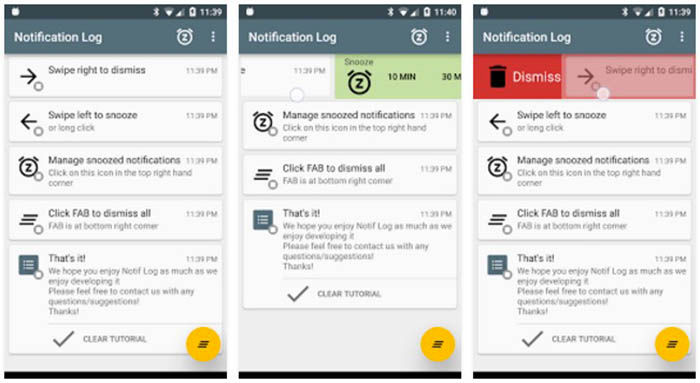 Notification Log Android