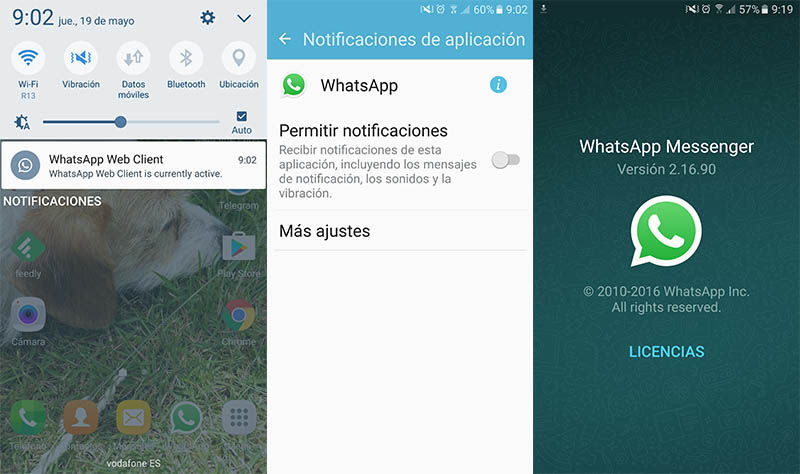 Notificacion WhatsApp Web